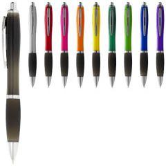 """Bolígrafo de color y empuñadura negra """"Nash"""""""