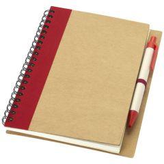 """Libreta de papel reciclado con bolígrafo """"Priestly"""""""