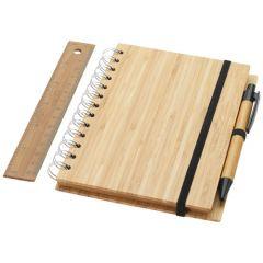 """Cuaderno B6 de bambú con regla y bolígrafo """"Franklin"""""""