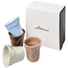 "Set de 4 vasos espresso de cerámica ""Milano"""