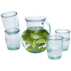"""Set de 5 vasos de vidrio reciclado """"Terazza"""""""