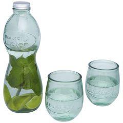"""Set de 3 vasos de vidrio reciclado """"Brisa"""""""