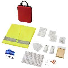 """Kit de primeros auxilios de 47 piezas y chaleco reflectante de seguridad """"Handies"""""""