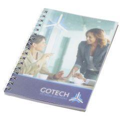 Cuaderno A6 con anillas de alambre y cubierta de PP Desk-Mate®