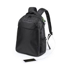 Mochila Halnok Conexión USB. Bolsillo Acolchado para Portátil y Tablet. Parte Trasera y Cintas Acolchadas Poliéster 600D