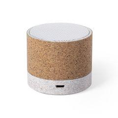Altavoz Nerel Conexión Bluetooth. Potencia 3W. Recargable USB. Cable Incluido Caña de Trigo/ ABS/ Corcho Natural