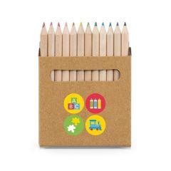COLOURED. Caja con 12 lápices de color