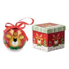 Bola navideña en caja