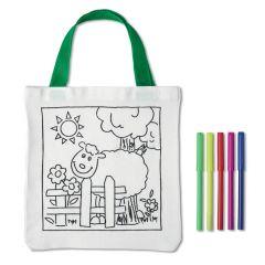 Bolsa para colorear de algodón