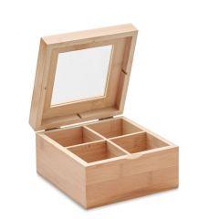 Caja de té de bambú