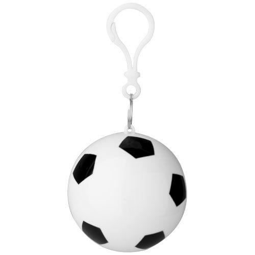 """Poncho impermeable en llavero con forma de balón de fútbol """"Xina"""""""