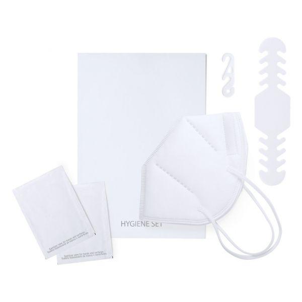 Set Higiénico Hotax Ajustador PP. Toallitas 100% Compostables. Mascarilla Autofiltrante FFP2 5 Capas. 50% Non-Woven (2 Capas)/ 50% Meltblown (3 Capas)