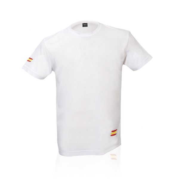 Camiseta Adulto Tecnic Bandera Transpirable. Tallas: XS, S, M, L, XL 100% Poliéster 145 g/ m2