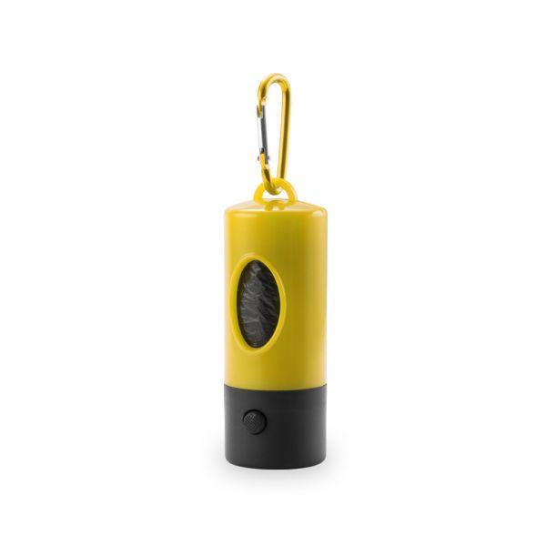 Dispensador Bolsas Muller 1 Led. 15 Bolsas Incluidas. Pilas Botón Incluidas