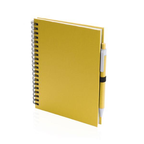 Libreta Koguel Portada Rígida. 70 Hojas. Bolígrafo Cartón Reciclado Incluido Cartón Reciclado