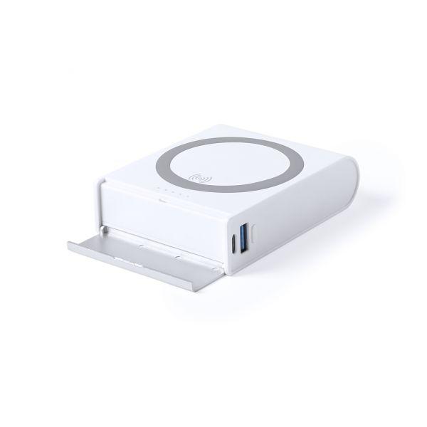 Power Bank Crooft Inalámbrico. 8000 mAh. Salida USB y Tipo C. Entrada TIpo C. Cable No Incluido