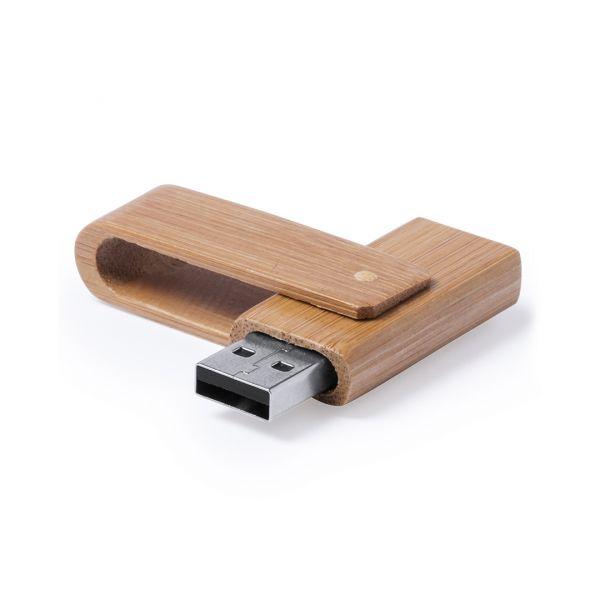 Memoria USB Haidam 16GB Presentación Individual Bambú