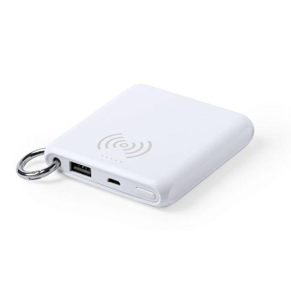 Power Bank Kendrix Inalámbrico. 5000 mAh. Salida USB. Entrada Micro USB. Cable Incluido