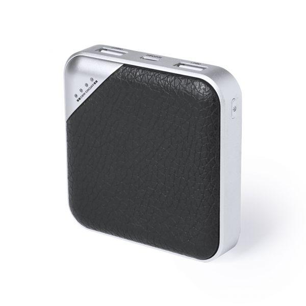 Power Bank Torlem 5000 mAh. 2 Salidas USB y 1 Tipo C. Entradas Micro USB y Tipo C. Cable No Incluido Polipiel