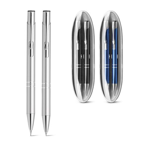 BETA SET. Set de bolígrafo y portaminas de metal