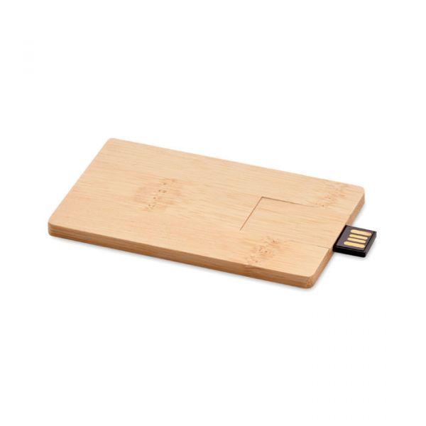 Memoria USB 16GB carcasa bambú