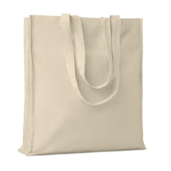 Bolsa algodón con fuelle 140gr