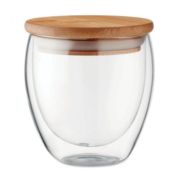 Vaso cristal doble capa 250 ml