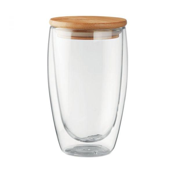 Vaso cristal doble capa 450 ml