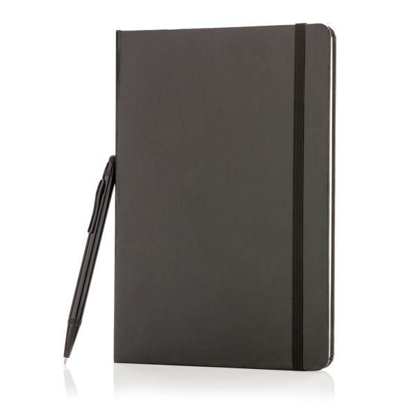 Libreta básica A5 de tapa dura con bolígrafo