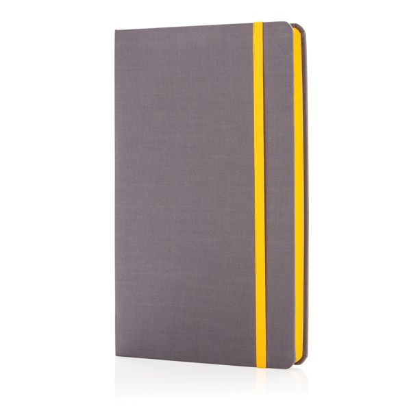 Libreta deluxe con tapa de tela y lateral de color